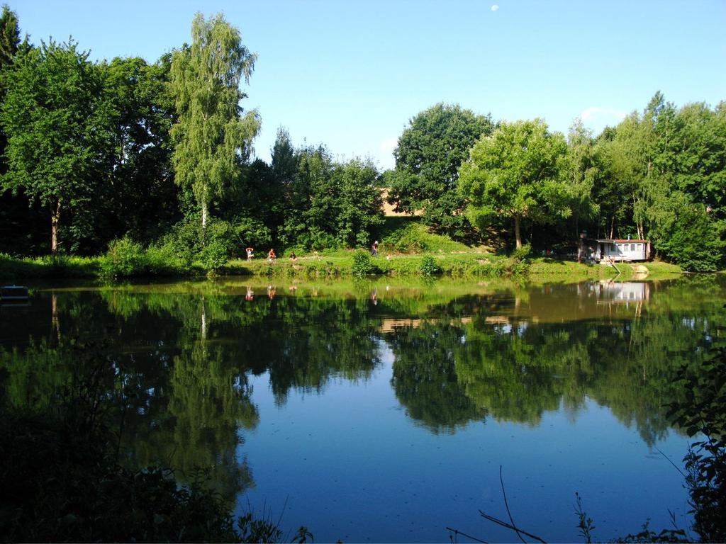 Chytat můžete na soustavě dvou rybníků o rozloze 3 ha , které